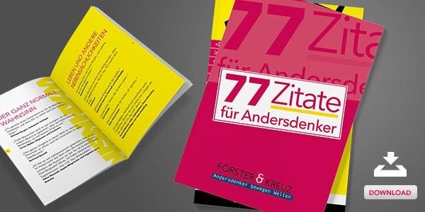 77 Zitate für Andersdenker - Unser neues Zitatebuch
