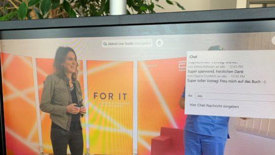 Keynote-Vortrag von Anja Förster zum Jahresauftakt bei Abbott