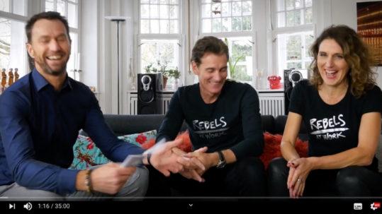 Business Rebellen Talk Stephan Grabmeier Peter Kreuz Anja Förster rebels at work